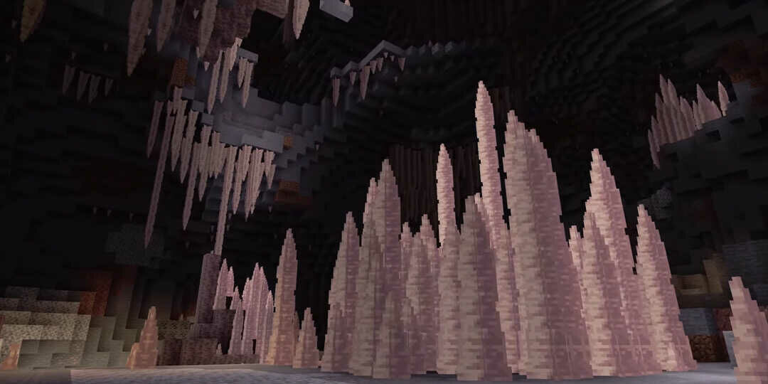 Minecraft cseppkőbarlang