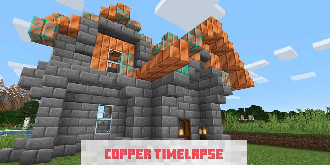 Minecraft réz blokk örgedése